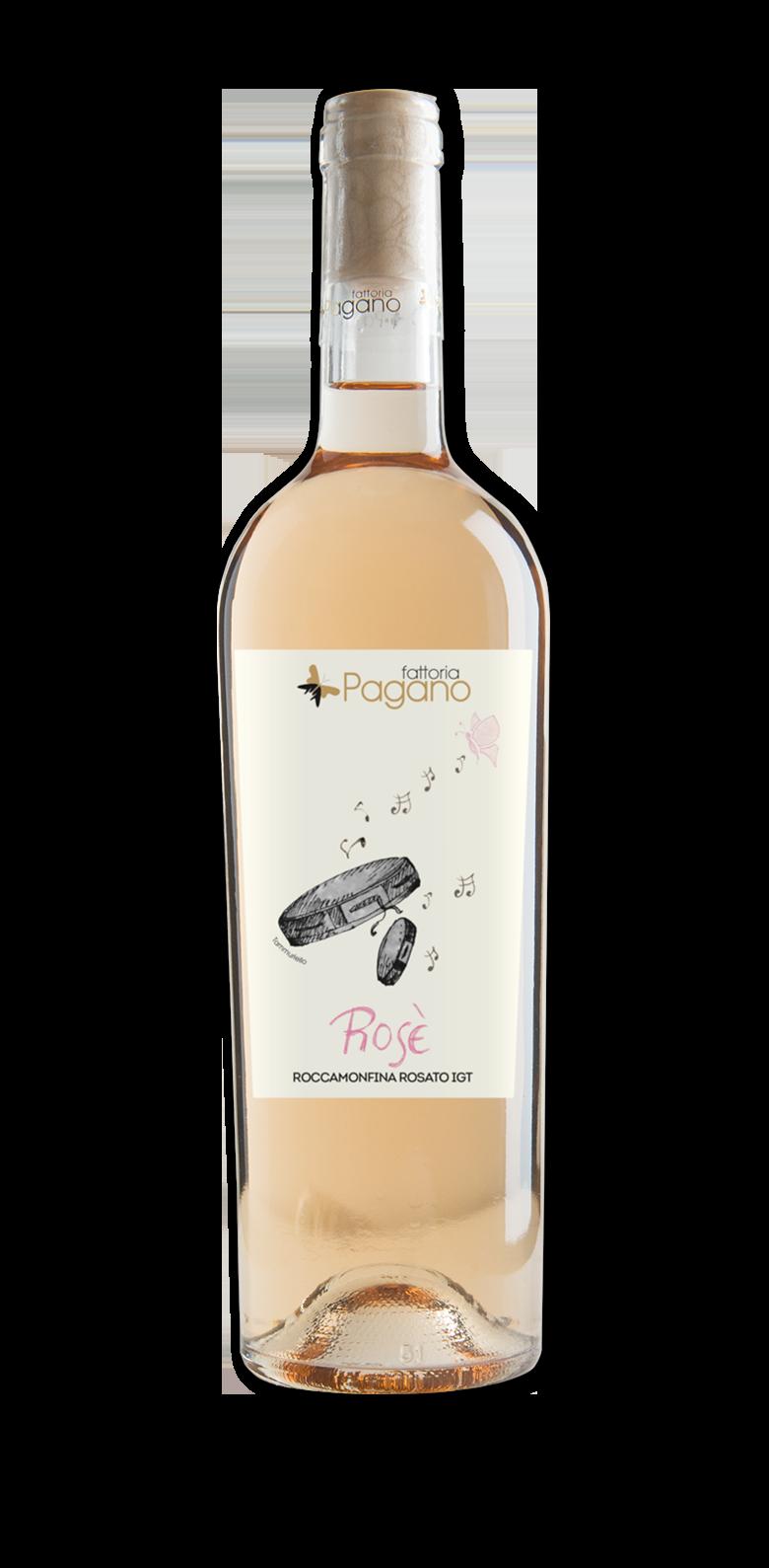 vino rosato di aglianico, piedirosso, merlot
